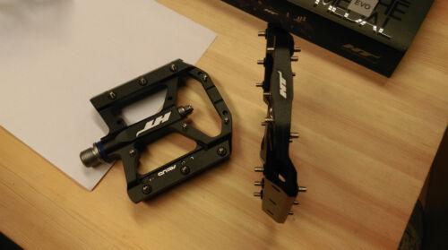 HT Pedals AE05 Evo Platform CrMo MTB BMX DH Pedals  Black