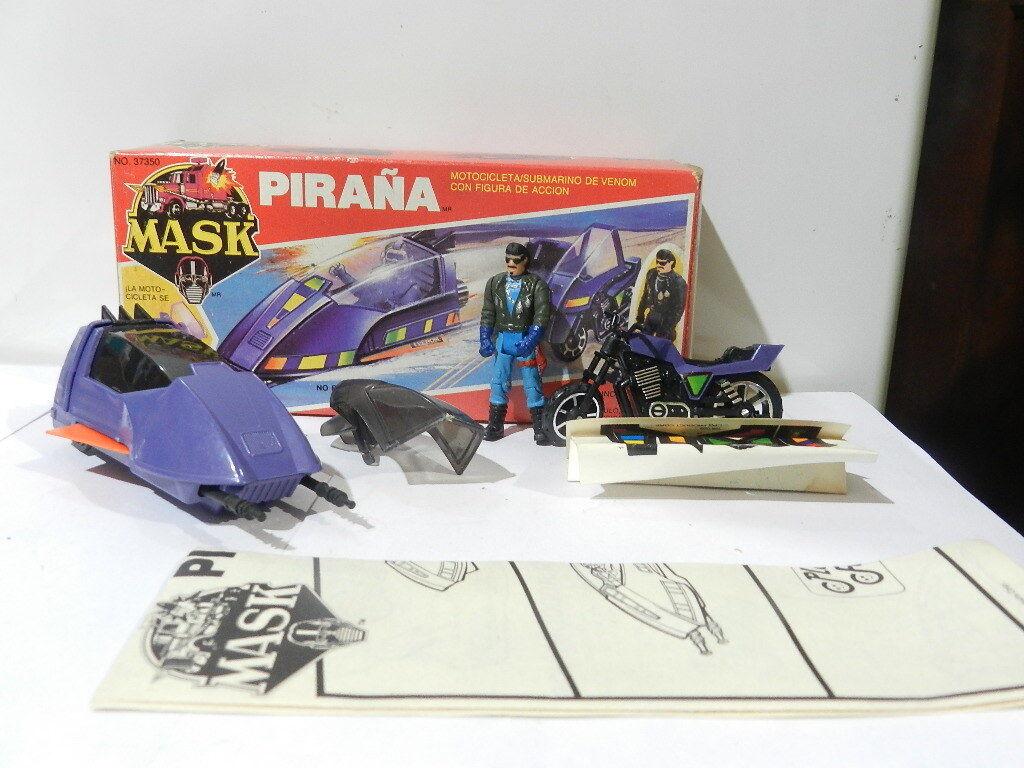 VINTAGE MASK M.A.S.K. PIRANHA BRAND PLAY FUL W  SLY RAX COLGoldt VARIANT RARE
