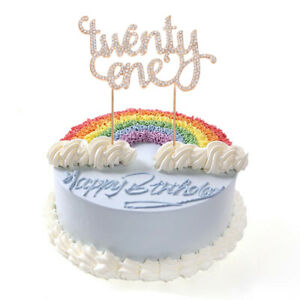 Image Is Loading Twenty One Years Birthday Cake Toppers Age 21