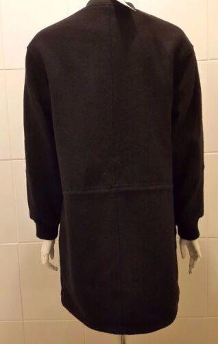 Cappotto dritto grigio New M taglio in Mango lana donna nero HnH8ZqfrpW
