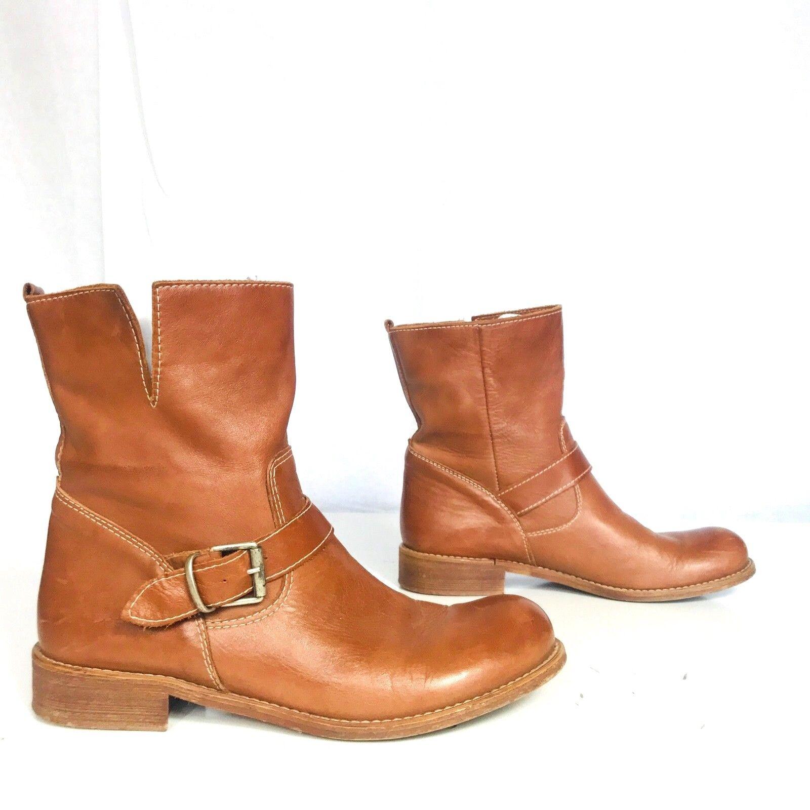 Lavorazione Artigiana  size 41 US 8.5 men Carrter cognac brown riding boots