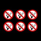 No Smoking Circle Stickers - 75mm x 75mm - Choose your pack size.