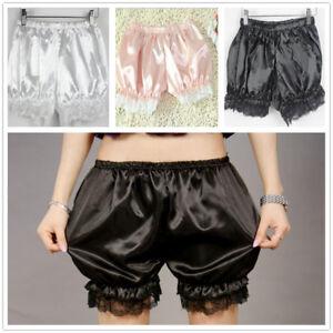 Women-Satin-Knickers-Panties-Pumpkin-Bloomer-Shorts-Underwear-Underpants-Lace