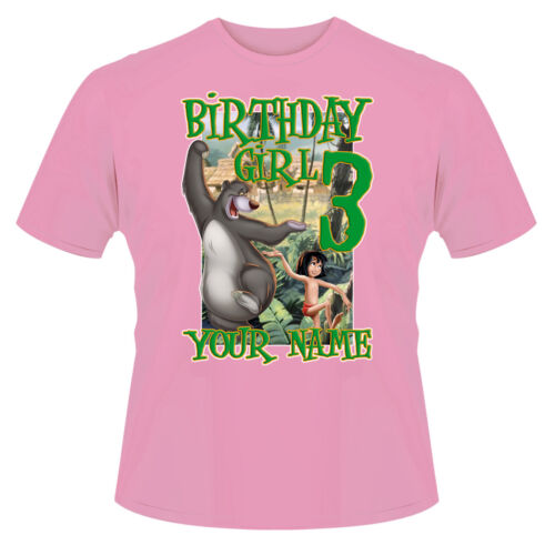 Jungle Book Birthday Girl Personalised T-Shirt Ideal Gift//Present