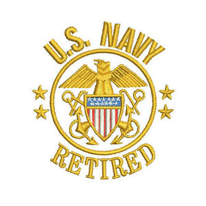 47cc7534 Image is loading US-NAVY-RETIRED-Army-Patriotic-Veteran-Military-Embroidered -