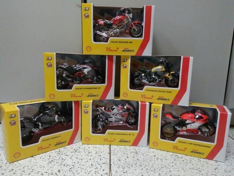 BURAGO Shell Ducati Motos  1 18  vente en ligne
