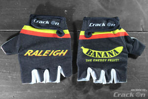 Raleigh Banana Team Road Cycling Half Finger Mitts Gloves
