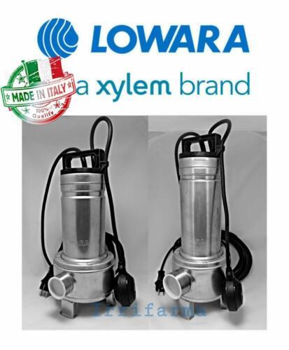 Pompa sommersa acque sporche LOWARA DOMO 7//B 7VX//B 10//B 10VX con galleggiante
