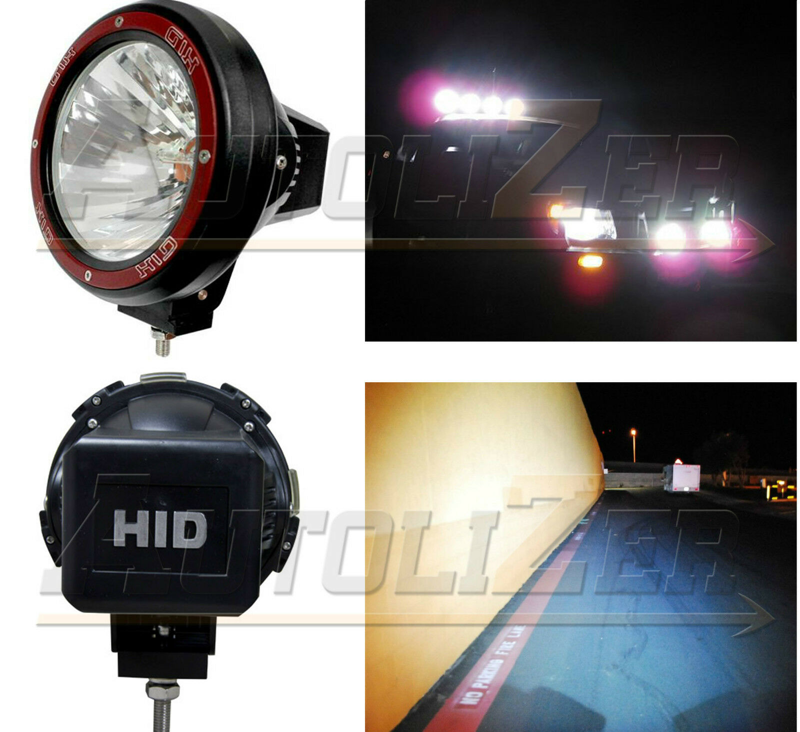 1x Universal 7 Inch Built In Xenon Hid 4x4 Off Road Rally