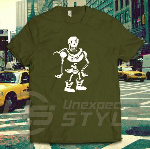 Undertale Ispirato T Shirt PAPIRO Skellington Gaming Twitch Bambini Unisex a vapore