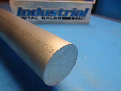 "1pc 2/"" Dia x 18/""-Long 6061 T6511 Aluminum Round Bar"