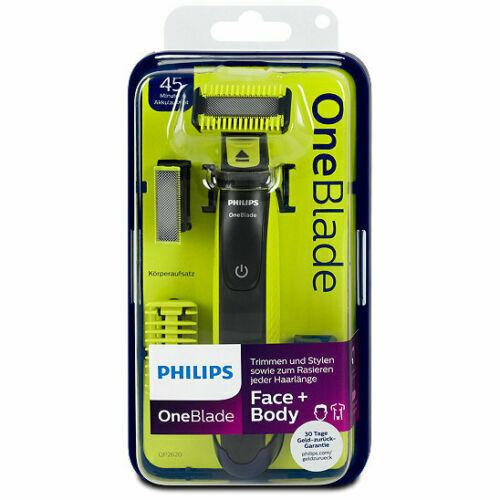 Rasoir Philips One Blade QP2620 Visage Barbe Corps : 2 lames + accessoires NEUF