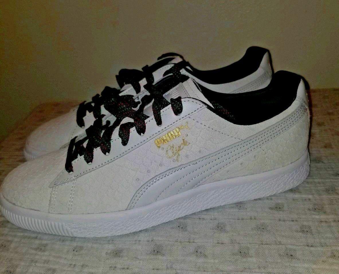 Women's  Puma Clyde GCC Snake embrossed Sneaker - Size 9.5