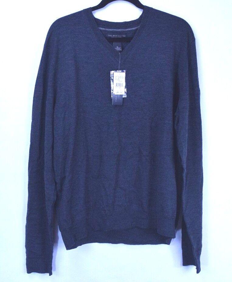Bloomingdale's The Men's Store Dark Grey 100% Merino Wool Men's Sweater Size XL