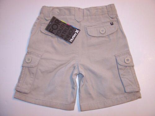 Hurley light beige khaki cargo shorts baby toddler boy adjustable 2T 18m 24m
