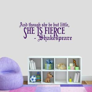 Details about She Is Fierce Wall Decal - Girls, Teens, Playroom, Bedroom,  Wall Sticker, Vinyl