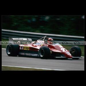 #pha.014101 Photo FERRARI 126 C2 GILLES VILLENEUVE GP F1 ZOLDER 1982 Car Auto MkjlnFmp-09093959-635888524