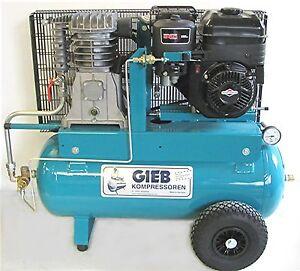 gieb kompressor kompressoren 550 60 10 bar benzinmotor 6 52 ps gasregul ebay. Black Bedroom Furniture Sets. Home Design Ideas