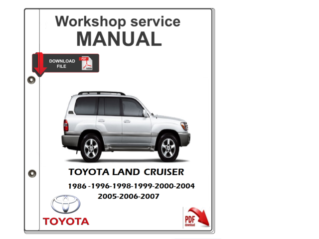 Toyota Land Cruiser Manual De Taller De Servicio Manual