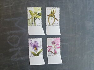 2010-GRENADA-ORCHIDS-OF-THE-CARIBBEAN-SET-4-MINT-STAMPS-MNH