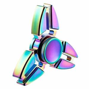 Rainbow Aluminium Metal Fidget Spinner Stress main libre Spin doigt jouet