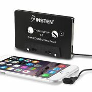 INSTEN 3.5mm Universal Car Audio Cassette Adapter for Smartphones 3FT Cord Black