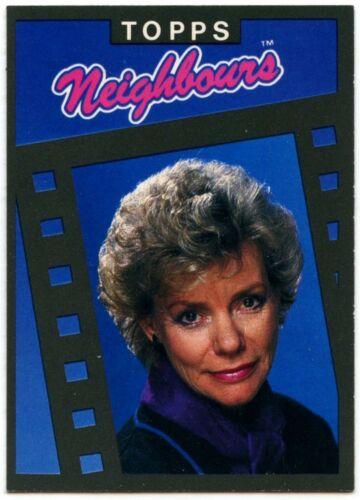 C1442 Anne Haddy As Helen Daniels #5 Neighbours Series 1 Topps 1988 Trade Card