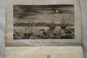 1818 Journal voyages découvertes navigations modern T5 Verneur grvure Hudson det