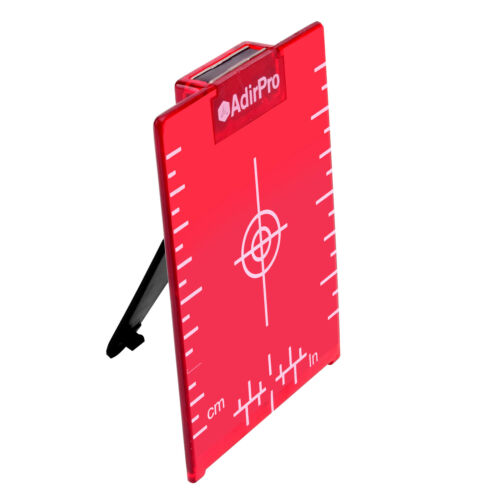 AdirPro Red Magnetic Ceiling Target Plate with Leg for Red Beam Laser SET OF 2