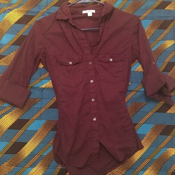 James Perse lila plum classic button up shirt Größe 1 NWOT