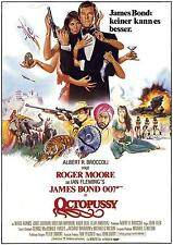 OCTOPUSSY LAMINATED MINI POSTER ROGER MOORE  BOND