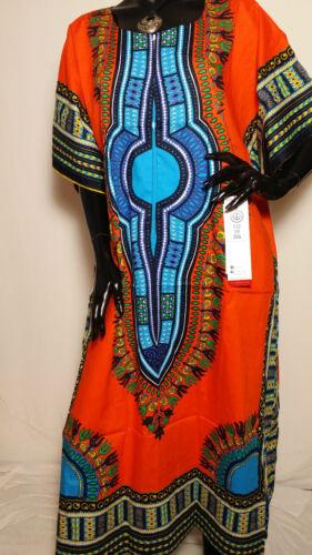 African Dashiki Hippie Boho Ethnic Cotton Long Tribal Poncho Maxi Dress Kaftan