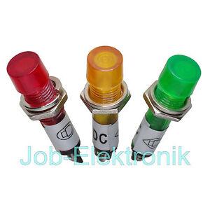 Signallampe-Signalleuchte-Kontrollleuchte-Meldeleuchte-12V-LED-230V-7mm