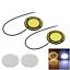 1x White/&Yellow Pair Car DRL Driving Blub With Turn Signal 68 COB LED Z5157