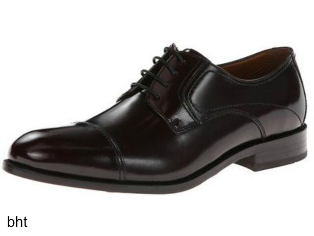 Bostonian Mens CALHOUN LIMIT Lace Up Black Brush Leather Oxford Dress 26102723
