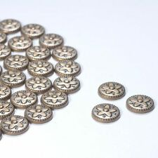 100 Bronze Flower Pattern Metallic Rhinestones Iron on / Hot-fix