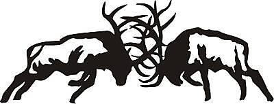 LRG BOW HUNTER circle decal sticker Mule DEER archery hunt call blind arrow
