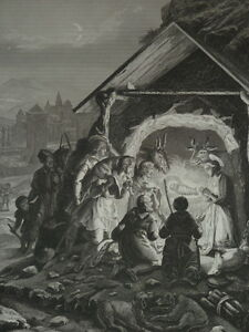 Jesus-Christ-Adoration-of-Shepherds-Gravure-of-1863