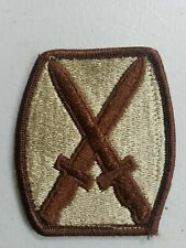 US 10th Infantry Division Desert Patch