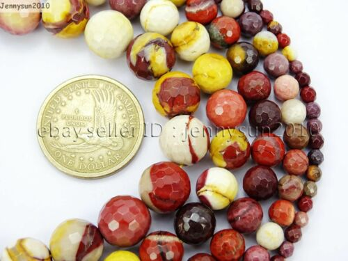 Natural Moukaite Jasper Gemstone Faceted Round Beads 15/'/' 4mm 6mm 8mm 10mm 12mm