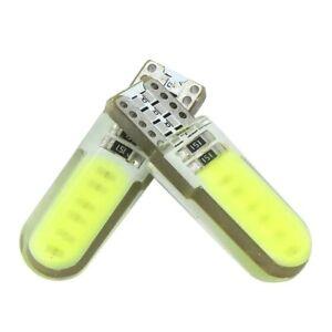 2-Veilleuses-LED-COB-W5W-T10-ANTI-ERREUR-SILICON-BLANC-XENON-6500k-voiture-moto