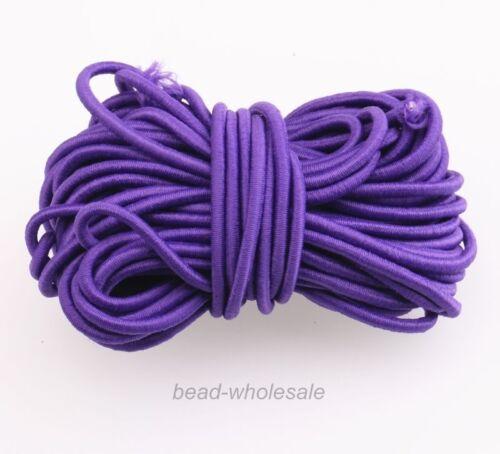 5m Gummikordel Hutgummi Gummilitze elastisch viele Farben Durchmesser 3mm