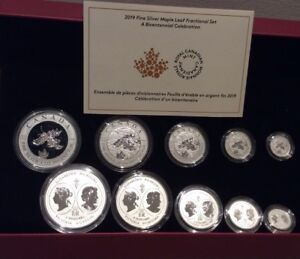 Dollar 1819-2019 Bicentennial Celebration Maple Leaf Pure Silver Proof $1 Coin