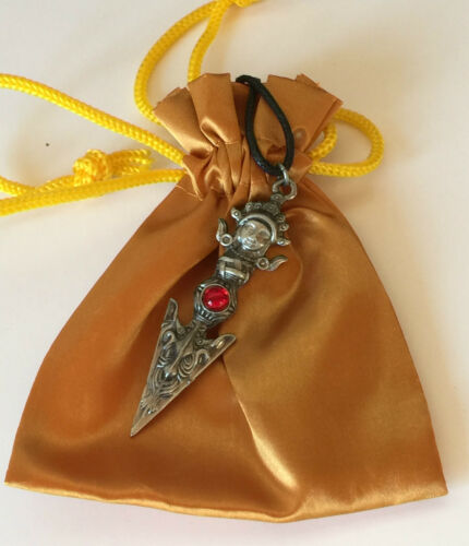PHURBU Briar Dharma Pewter Symbolic Pendant Charm magic dagger