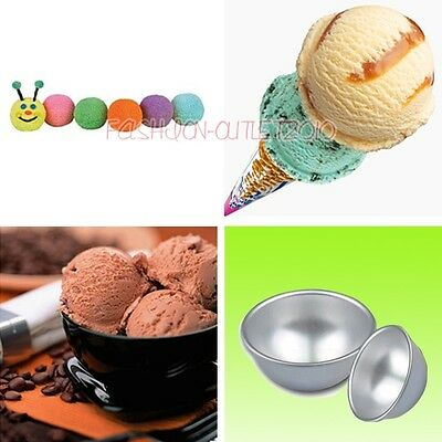 Icing 3 Size Bath Bomb Half Ball Cake Pan Sphere Baking Tins Decorating Tools F8