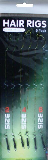 Karpfenhaken Angelhaken Gebunden 6 Stk HAIR RIGS Boiliehaken Ohrhaken Hacken