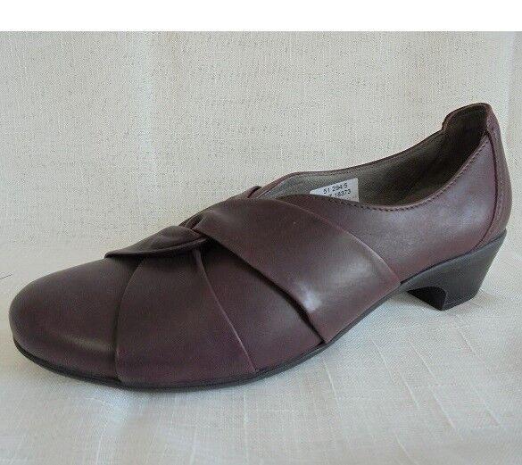 Zapatos zapato bajo bajo bajo mocasines cuero burdeos Mae & Mathilda talla 39 (5,5) ancho H  ventas en linea