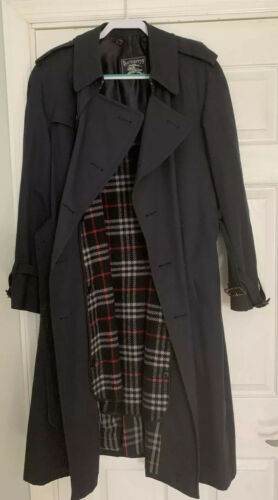 Men's Navy Blue Burberry Trench Coat Size 50 Regul