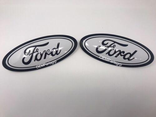2018 Ford F150 Custom Grille /& Tailgate Emblem Black YZ UA // White