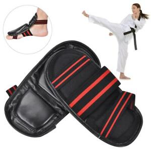 Karate-Sparring-Taekwondo-Foot-Guard-Protective-Gear-Set-Half-Boxing-Gloves